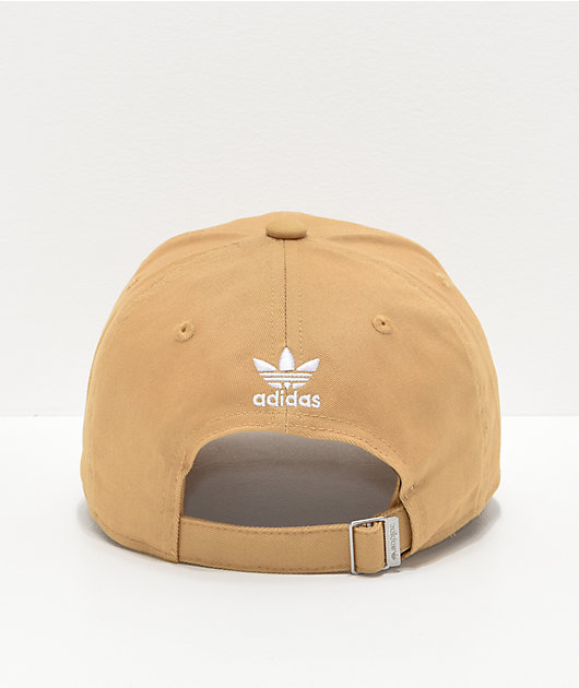 adidas Women's Relaxed Outline Logo Gold Strapback Hat