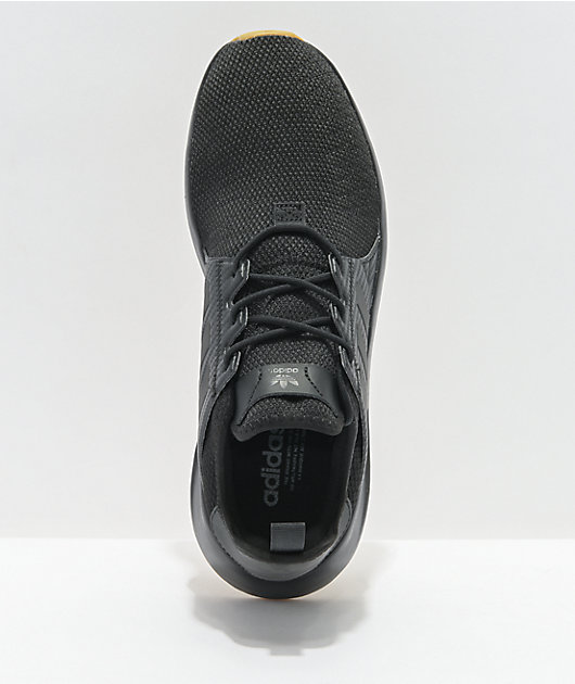adidas X_PLR Black & Gum Shoes