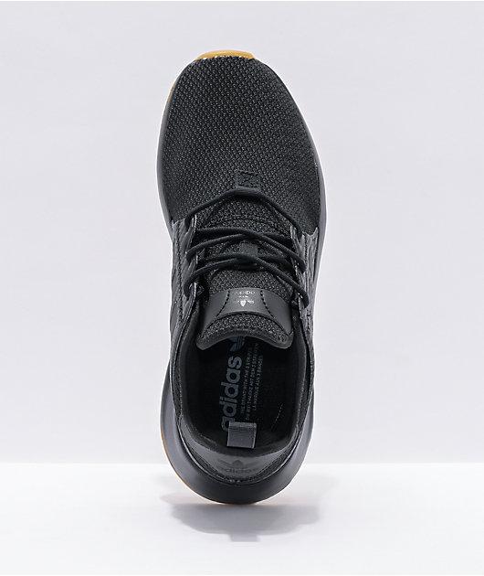 adidas X_PLR Black & Gum Shoes