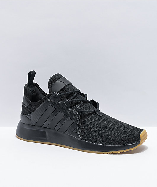 adidas X_PLR J Black & Gum Shoes