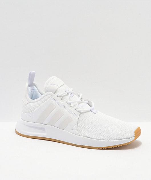 adidas X_PLR White & Gum Shoes