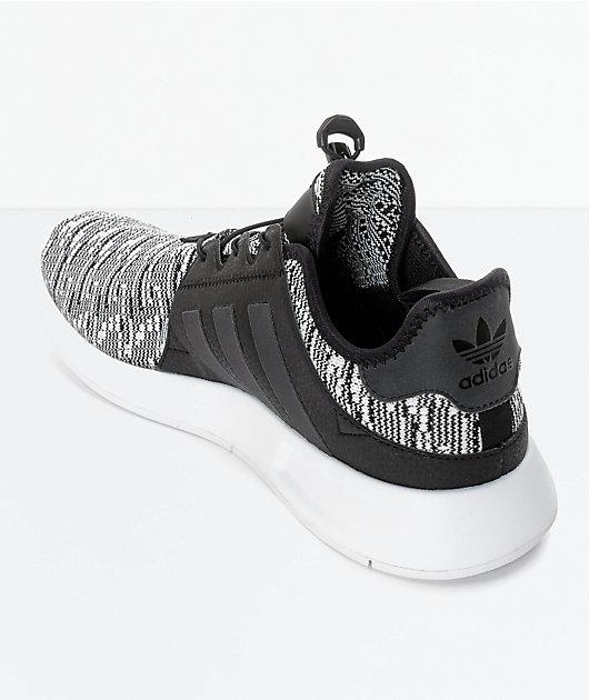 adidas xplorer white & black shoes