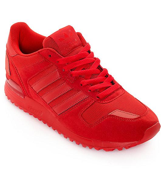 adidas ZX 700 Mono Red Shoes | Zumiez