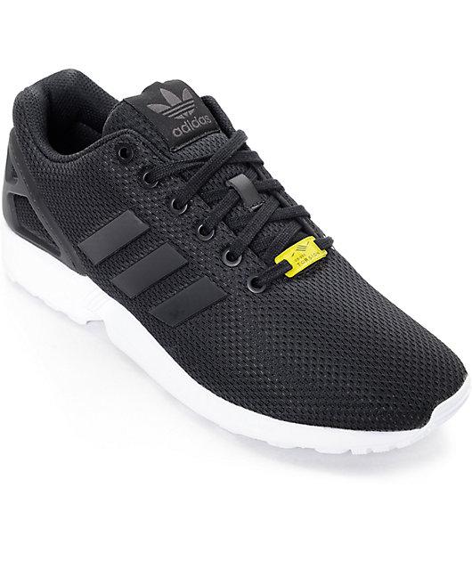 adidas ZX Flux Black \u0026 White Shoes | Zumiez