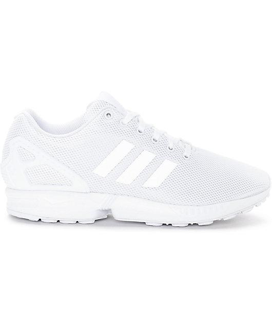adidas ZX Flux Mono White Shoes | Zumiez