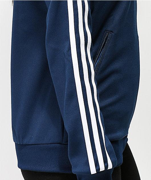 Roca Insustituible prosa  adidas chaqueta de chándal azul marino de 3 rayas | Zumiez