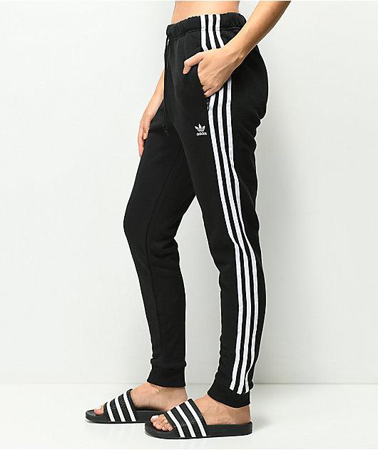 camión Ofensa Aja  adidas pantalones de chándal en negro de 3 rayas | Zumiez
