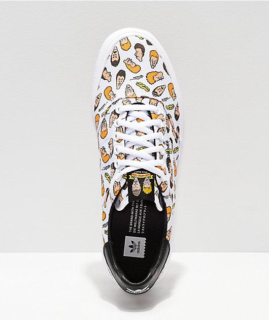 adidas x Beavis & Butthead 3MC White Skate Shoes