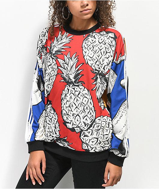 adidas x Farm Red Pineapple Crew Neck Sweatshirt
