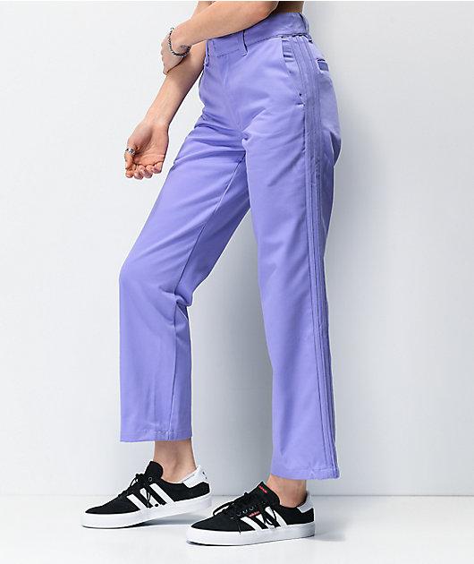adidas x Nora 3 Stripe Purple Chino Pants