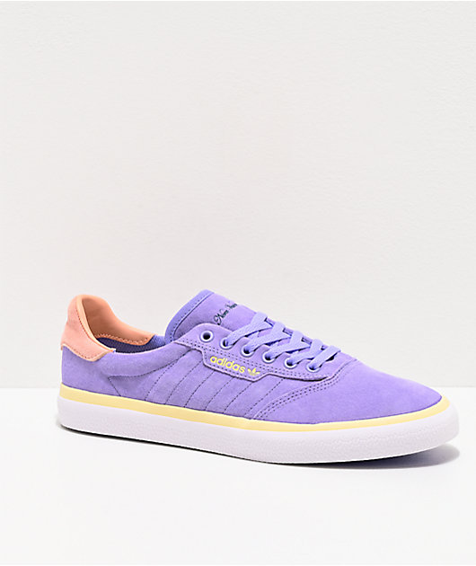 adidas x Nora 3MC Purple, Glow Pink & Mist Sun Shoes