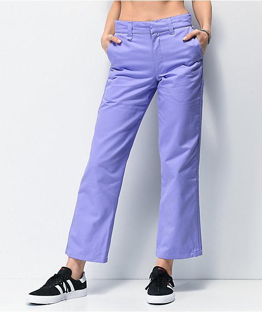 adidas x Nora pantalones chinos morados de 3 rayas