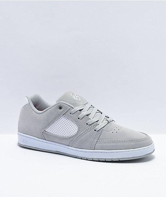 eS Accel Slim Grey & White Skate Shoes