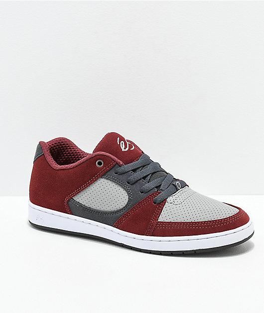 eS Accel Slim Red \u0026 Grey Skate Shoes