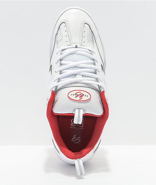 eS Quattro White Skate Shoes