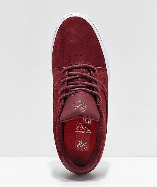 eS Square Three Burgundy Skate Shoes