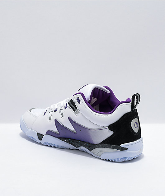 eS Symbol White, Black & Purple Skate Shoes