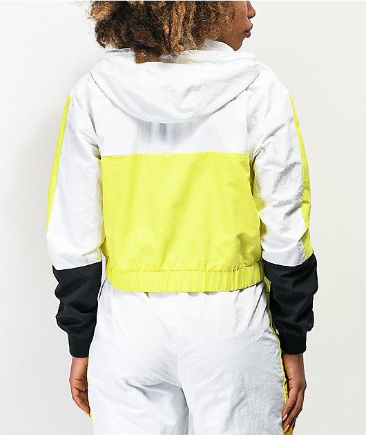 ellesse Deve Yellow, White & Black Crop Windbreaker Jacket