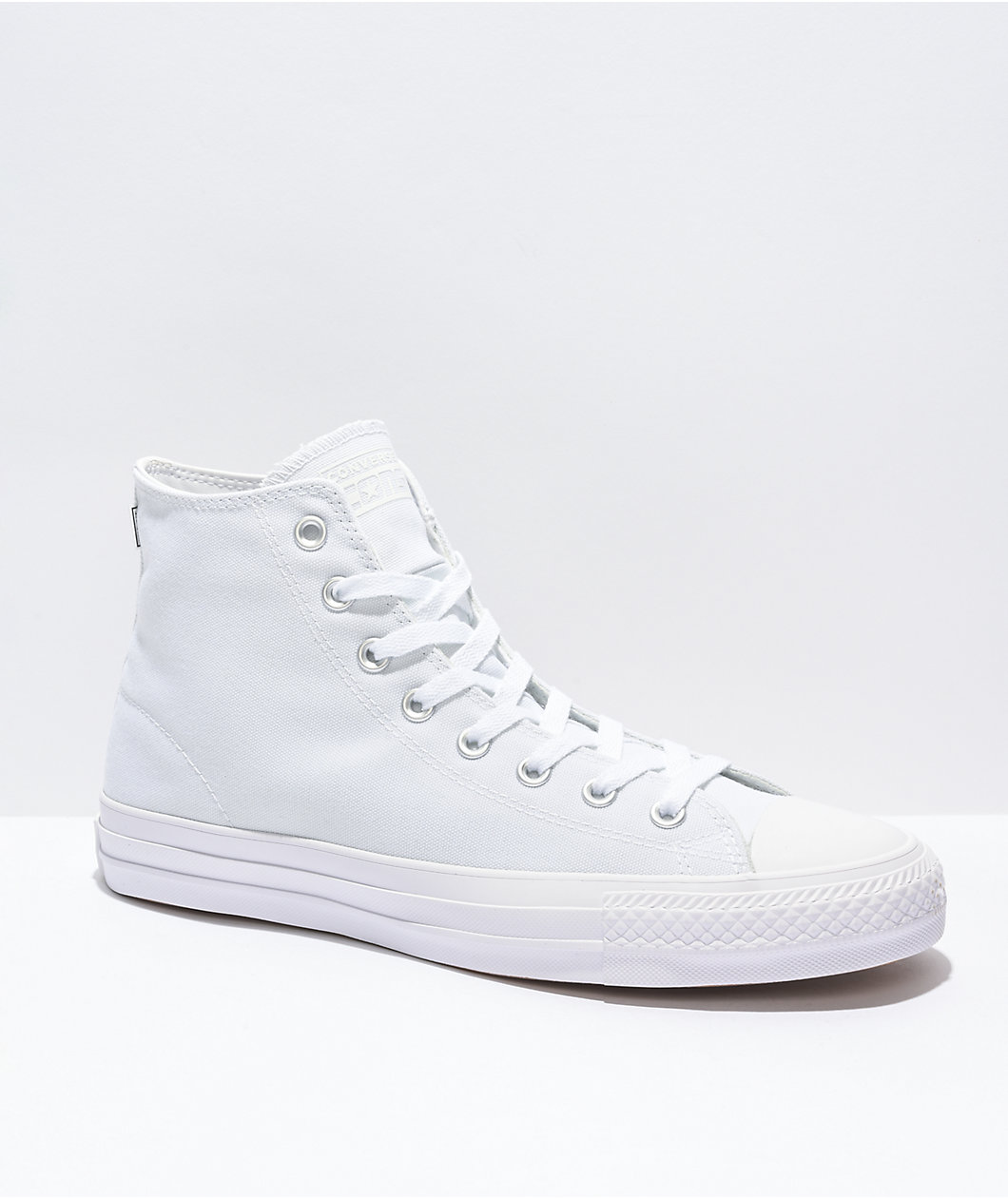Converse CTAS Pro Hi All White Skate Shoes