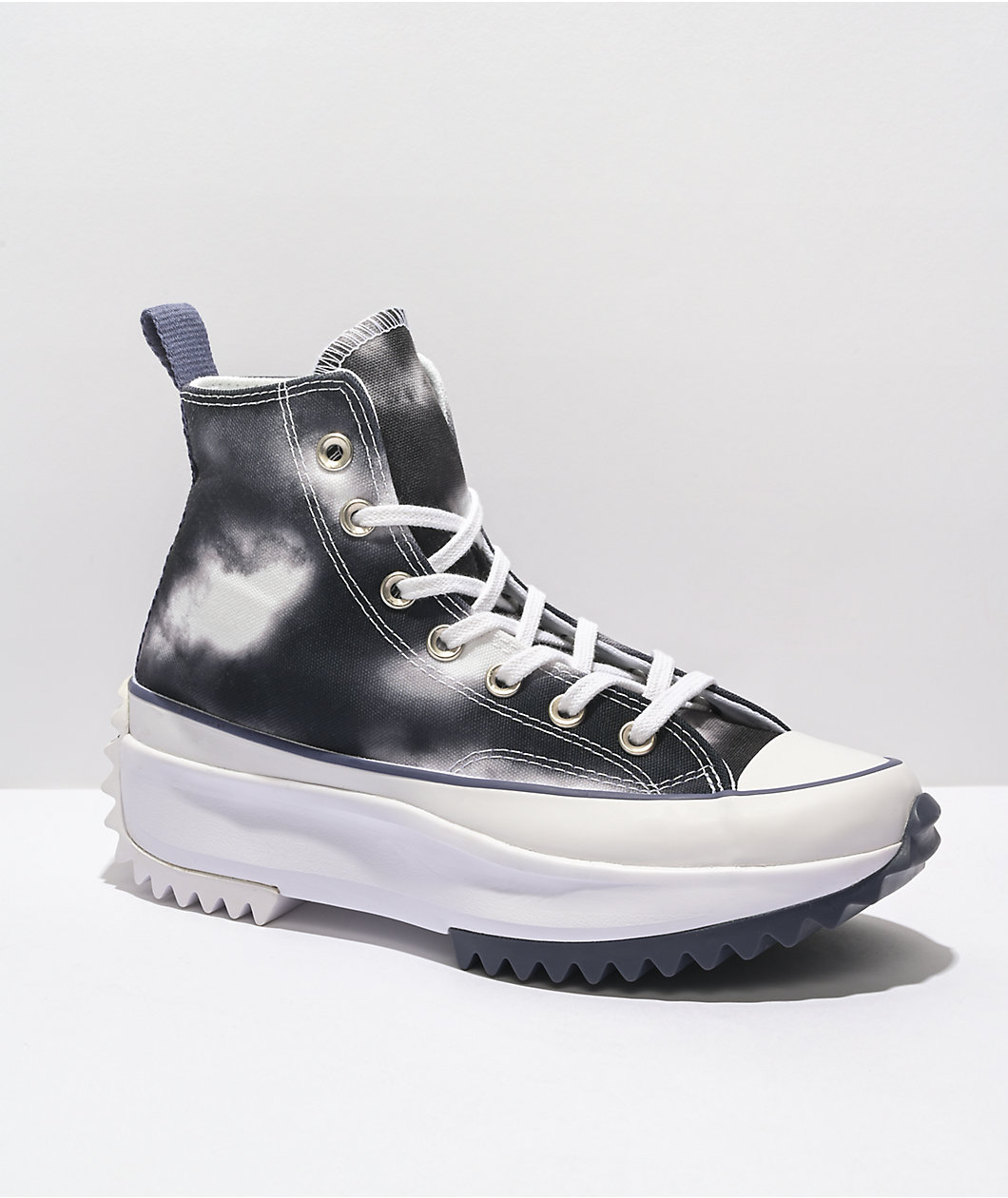 Converse Run Star Hike Cloud Dye Black & White Shoes