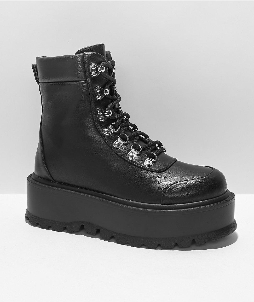 KOI FOOTWEAR LTD KOI Hydra Black Platform Boots