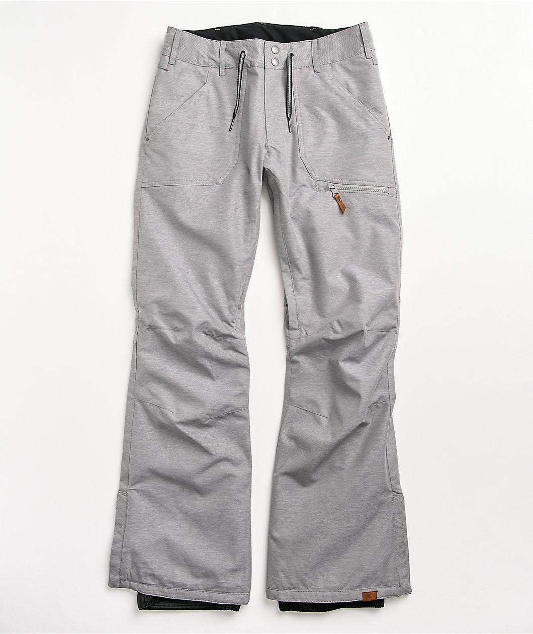 Roxy Nadia Heather Grey 10K Snowboard Pants