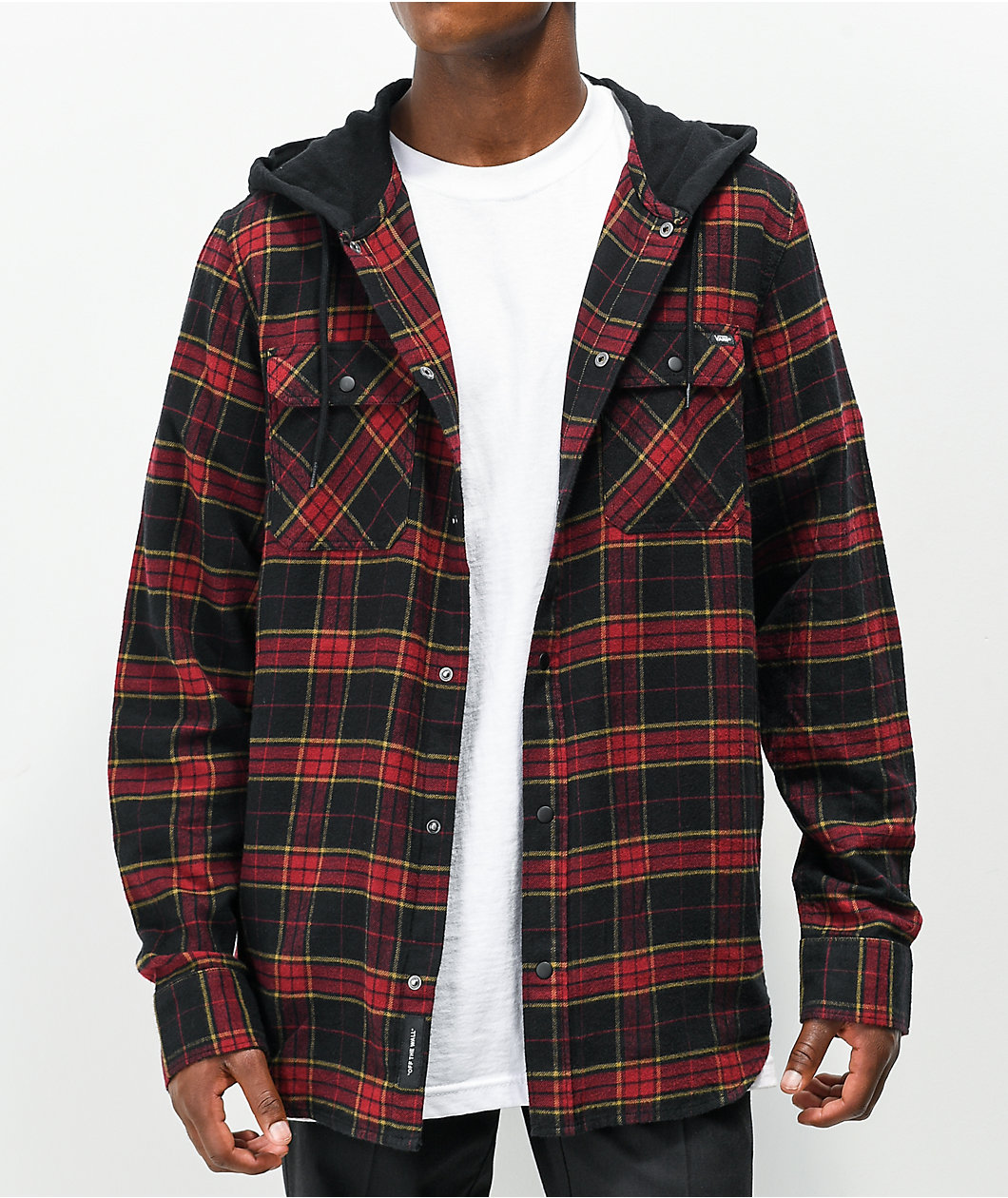 Vans Parkway II Pomegranate & Black Hooded Flannel Shirt