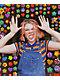 A-Lab Matilda Rainbow Stripe Crop Polo T-Shirt