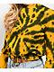 Zine Watts sudadera con cuello redondo de tie dye dorado y negro